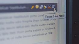 TemplaVoila: Papierkorb-Icon für Content-Elemente