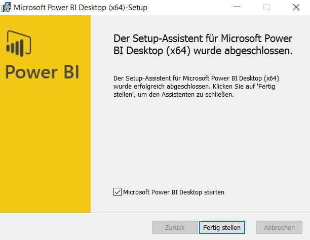 Installation-Power-BI-desktop-fertige-Installation